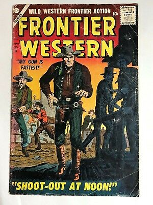 1957 Marvel Atlas FRONTIER WESTERN #8 * Classic Maneely GUNFIGHTER Cover!