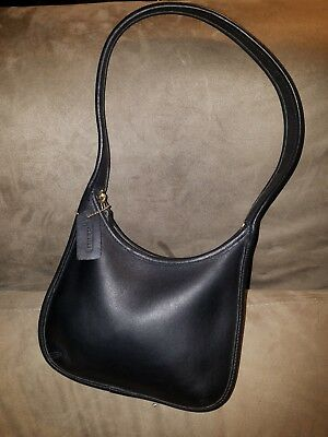 fca6c0b2fc NICE!!   VINTAGE COACH ERGO Black Leather Hobo Purse Shoulder Bag ...