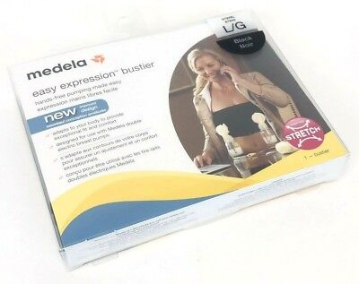 Medela Easy Expression Bustier Black Large Hands-free pumping made easy New