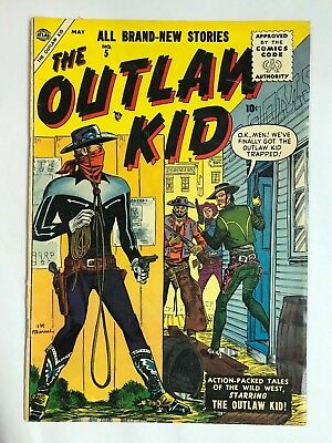 1955 Marvel Atlas OUTLAW KID #5 * Classic Maneely WESTERN Cover! Nice!