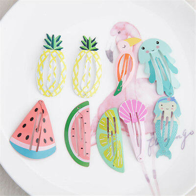 Kids Hair Accessories Watermelon Mermaid Girls BB Hair Clips Kids Baby Hairpins