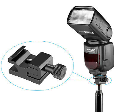 """Neewer 2pcs Metal Cold Shoe Flash Stand Mount Adapter for 1/4"""" Screw Light Stand"""