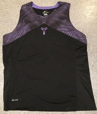 NIKE KOBE FLIGHT Dri-Fit Tank Black Purple Snake Python 2XL XXL Zoom Air