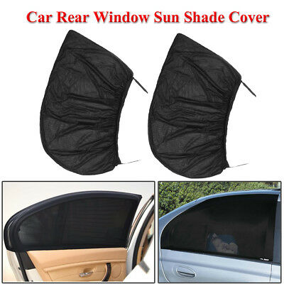2x Car Rear Side Window Sun Shade Cover Blind Mesh Max UV Kids Baby Protection