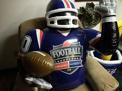 Inflatable Budweiser Bud Light Beer Football Player for Man Cave
