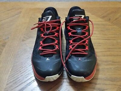 55b451993fae NIKE JORDAN CP3 VIII MEN S SHOES BLACK WHITE RED 684855-023 Size 9 ...