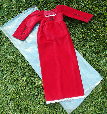"""Vintage 1972 Hasbro 18"""" AIMEE Doll Fashion - Red Velvet Gown COMPLETE EXC"""