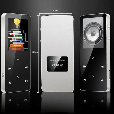 Lossless Hifi Metal Bluetooth MP3 MP4 Player Recorder FM Radio Touch button S3S1