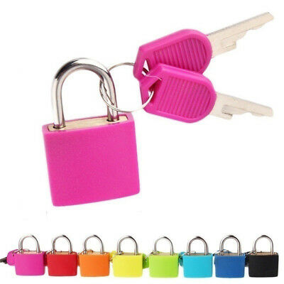 Copper Inside Colorful Steel Case Padlock Travel Suitcase Lock With 2 Key 22mm