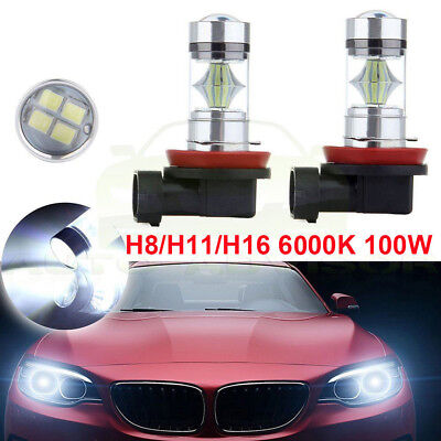 2x H11 H16 H8 H9 LED Fog Light Bulb Car Driving Lamp DRL 6000K Super Bright D