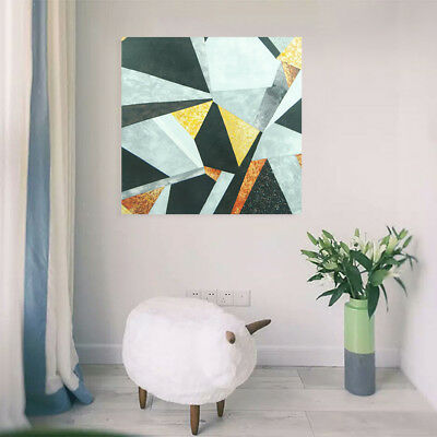 Hand Painted Oil Painting - Rhombus| Modern Abstract Wall Art Decor With Frame