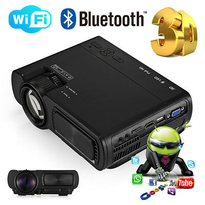 3D Full HD Home Theater Projector Portable Mini Projector Wireless WIFI / Wired