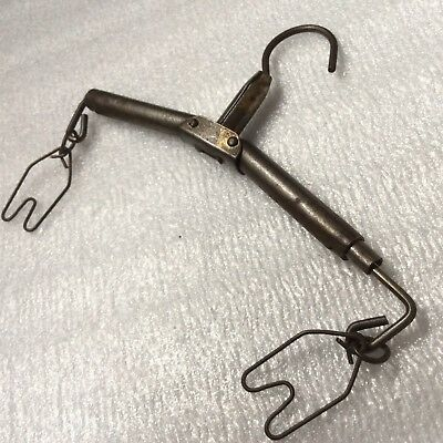 Amazing Antique Vintage Extendable Clothes Hanger. Rare Odd! Working. Edwardian?