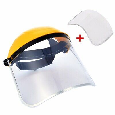 Clear Flip Up Full Face Shield Safety Screen Mask Eye Protector Spare Visors