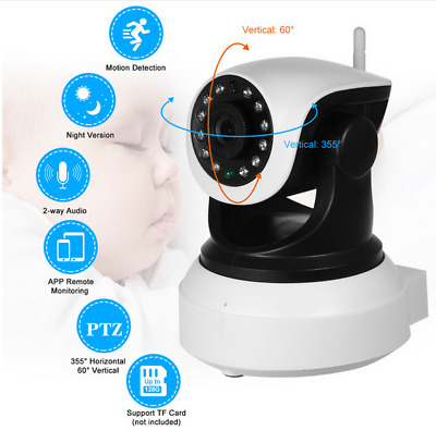 HD Wireless Wifi Pet Baby Monitor 2 Audio Night Vision Alarm CCTV IP Camera 720P