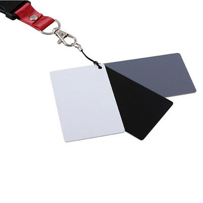 3in1 18% Digital Photography Black White Grey Exposure Color Balance Cards Set