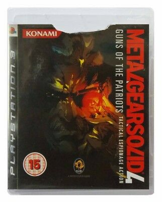 METAL GEAR SOLID 4: GUNS OF THE PATRIOTS (PS3 GAME) Playstation 3 C