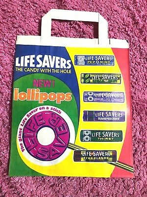 Vintage Life Savers / Beechies Paper Show Bag Chewing Gum Original UNUSED MINT