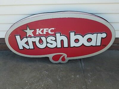 KFC Krush Bar Sign