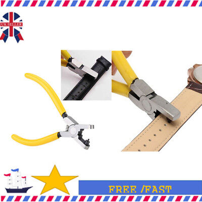 Hand Tool Watch Band Strap Belt Hole Maker Punch Plier Eyelet Leather Craft M0Sz