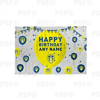 Leeds United FC Official Personalised Balloon Birthday Football Banner LB013