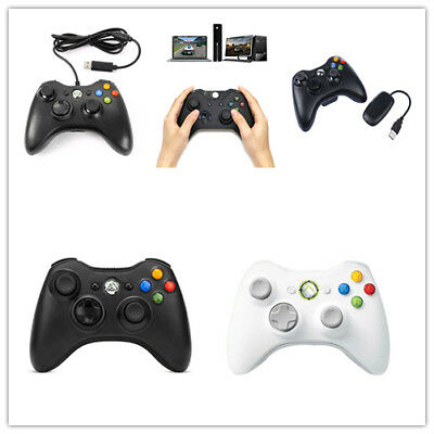 New 2.4GHz USB Wired/Wireless Gamepad for Xbox 360 Game Controller Joystick*-*