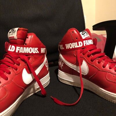 hot sale online 89eb2 32dac Nike X Supreme Aur Force 1 High-Tops Red UK10.5
