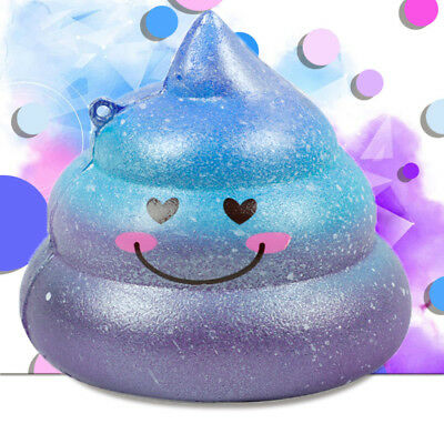 Cute Galaxy Poo Scented Squishy Charm Slow Rising Squeeze Stress Reliever Toy