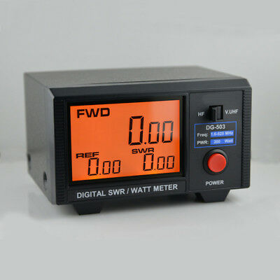 LCD Digital SWR WATT Meter for Two-Way Radios Walkie Talkie 1.6-60/125-525MHz