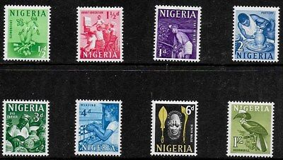 Nigeria 1961 Pictorials - SS to 1/- - MLH