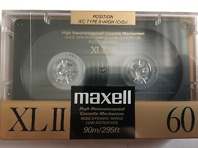 Maxell Xl Ii 60 Factory Sealed Audio Cassette