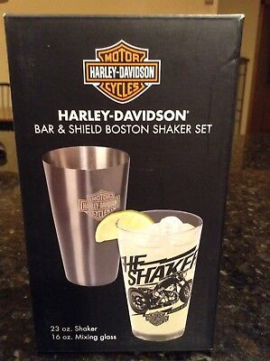 Harley-Davidson® Bar & Shield Boston Shaker & Pint Glass Cocktail Set HDL-18554