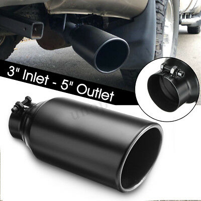 Car Bolt It On Exhaust Tip Tail Pipe Diesel 3'' Inlet 5'' Outlet Stainless Steel