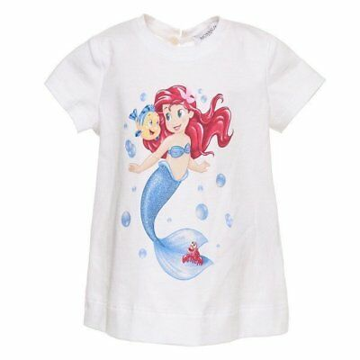 "T-Shirt White Mermaid Newborn Kids (9/12/18M) ""monnalisa"" 313620P2 Ss 2019"