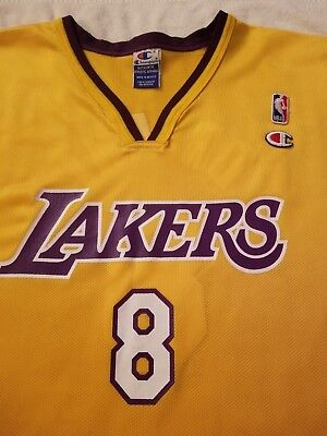 3ca8984acf4 LOS ANGELES CHAMPION Kobe Bryant NBA Jersey Sz 48 Black Mamba Lakers ...