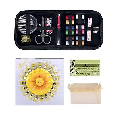 Sewing Kit Clips Home Travel Thread Threader Needle Tape Measure Scissor
