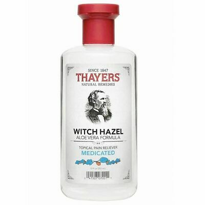 Thayers Medicated Witch Hazel Topical Pain Reliever Soothes Rashes Itches Burns