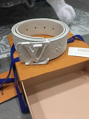 856f41d61d1 SOLD OUT 100% Authentic Louis Vuitton LV SHAPE 40MM BELT Virgil Abloh 90cm