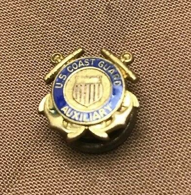 Vintage U.S. Coast Guard Auxiliary Screwback Lapel Pin!! Good Condition! WWII?