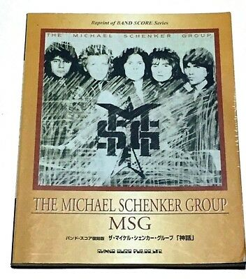 Michael Schenker Japan Band Score Book Guitar Tab Msg