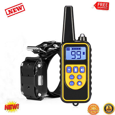 Waterproof 800 Yard Remote Dog Training Shock Collar Trainer Auto Anti- Bark