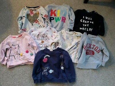 12-18 Months Girl Sweatshirt / top Bundle, NEXT, ZARA, H&M , GAP, EUC