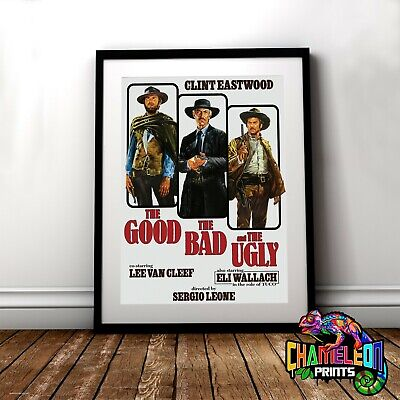 The Good The Bad And The Ugly Movie Poster In A3 A4 Clint Eastwood