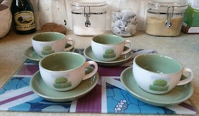 Set Of 4 Coffee Cups & Saucers