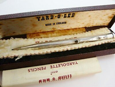 Vintage Yard-O-Led Rolled Silver  Mechanical Pencil In Box