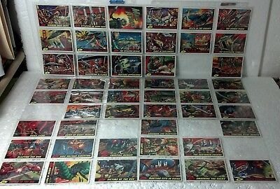 """1994 Topps 48of55 cards (missing 7cards) Mars Attacks Base set +""""0"""" card NM/VF"""