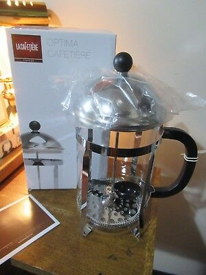 La Cafetiere Optima 8 Cup French Press Coffee Maker Filter Plunger, NEW.