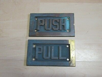 Antique Vintage Sargent Brass Door Pull And Push Plates 342P 352P