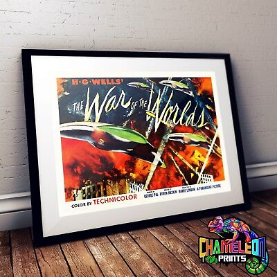 War Of The Worlds Movie Film Poster Print Picture A3 A4 Retro Prints