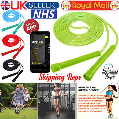 Skipping Rope 9ft Adjustable Cable Gym Fitness Training Jump Speed Jumping Rope